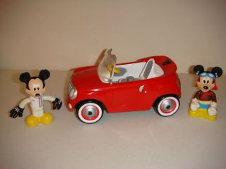 Mickey Mouse Clubhouse Mickey Figures and Red Car Talking Vehicle