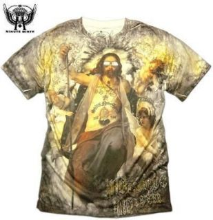 MINUTE MIRTH T SHIRT Size M & L Graffiti Tattoo Punk Retro Jesus Rock