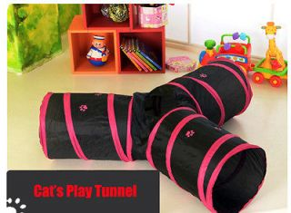 New Kitty Cat 3 Way Tunnel Play Cat Lover Toy Exercise Rabbit Puppy