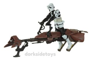 Star Wars Toys R Us Speeder Bike with Scout Trooper LOOSE COMPLETE