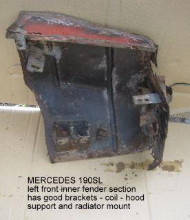 MERCEDES 190sl Front Inner Wheel Arch Panel   Left side short 121