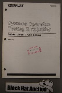 CAT Caterpillar 3406B Diesel Truck Engine Op Testing & Adjusting