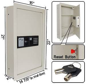 Electronic Flat Recessed Large Wall Safe Cash Jewelry Box Digital