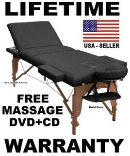 MASSAGE TABLE NEW BED PORTABLE ★FREE MASSAGE DVD+MUSIC CD+SHEET