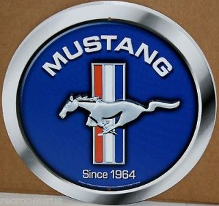 Newly listed FORD MUSTANG 12 ROUND MUSTANG METAL SIGN