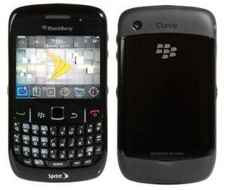 USED SPRINT BLACKBERRY CURVE 8530 BLACK CLEAN ESN CDMA PHONE