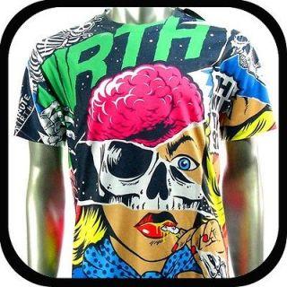Minute Mirth T Shirt Tattoo Graffiti Rock N103 Sz M L Skate Board bmx