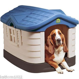 Size Double Wall Insulated All Weather Outdoor Pet Dog House NEW