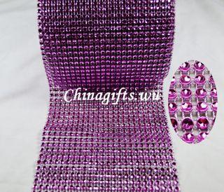Multi color Mesh Wrap spark Rhinestone looking Ribbon Wedding