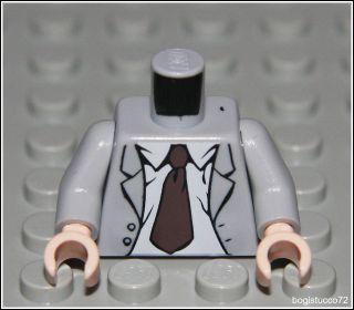 Lego Indiana Jones x1 Gray Jacket Torso ★ City Shirt Tie Man