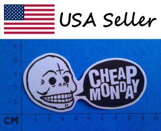 Cheap Monday Vinyl Sticker (019) Skateboard Car Window Bumper Decal