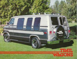 TRAIL WAGONS Custom VAN Brochure Chevy, GMC, Chelan DeVille, Tahoe