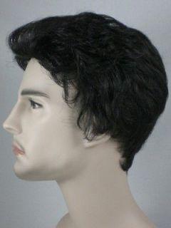 Black Wavy Wigs for Men Black/Gray/White/Brown