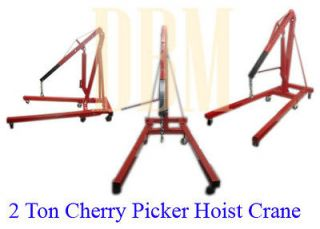 Ton 4,000 LBS Cherry Picker Engine Hoist Lift Shop Crane