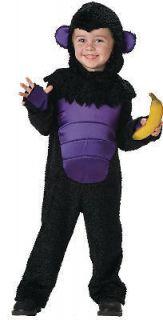 Gorilla Toddler Costume Zoo Safari 2T   4T Monkey Chimp Yard Ape NEW