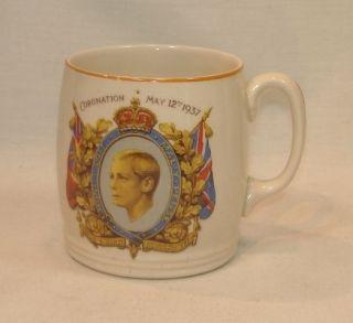 King Edward VIII Souvenir MUG Cup British Anchor China Royalty
