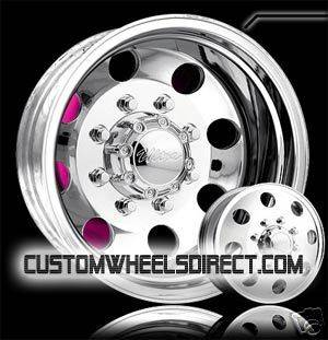 Type 02 Dually 8x6.5 16x6 Polish Chevy GMC Dodge Dually Free Lugs