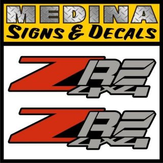 ZR2 4x4 Vinyl Decals / Stickers Chevy S10 GMC Sonoma Blazer ZR 2