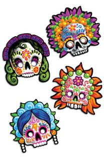 DIA DE LOS MUERTOS*DAY OF THE DEAD PAPER MASKS**