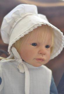 Reborn christmas toddler baby girl abbie blonde hair blue eyes ooak