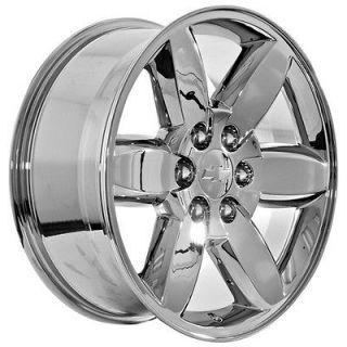 20 inch Chevy Tahoe Avalanche 2011 Suburban Silverado chrome wheels