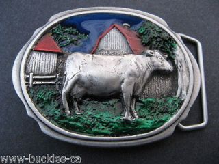 HOLSTEIN COW COUNTRY DAIRY FARM RANCH BARN BELT BUCKLE BOUCLE CEINTURE