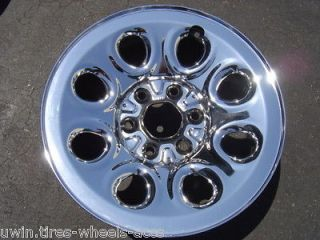 17 STEEL CHROME CHEVY SILVERADO GMC SIERRA YUKON RIMS 2005   2013