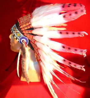 NATIVE AMERICAN HANDCRAFTED WAR BONNET HEADDRESS CHEYENNE 2