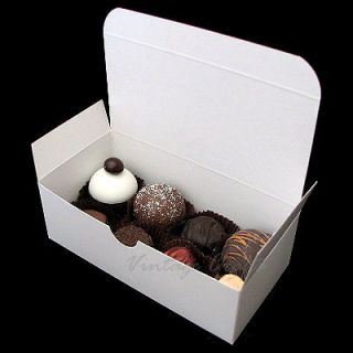 Christmas Candy Cookie or Cake Party Favor Treat Gift Box 6x3x2 White