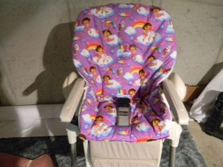 CHICCO POLLY High Chair Cover/ Purple Dora And Boots