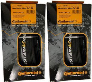 Continental Mountain King MTB Tires Race Sport Black Chili 26.0 x 2.2