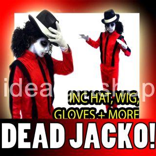 KIDS DELUXE DEAD JACKO HALLOWEEN FANCY DRESS COSTUME KIDS POPSTAR BOYS