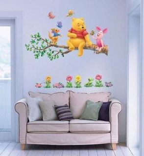 WINNIE THE POOH Deco decal Wall Paper Sticker KIDS tree