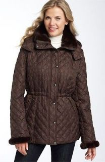 NEW WOMENS MARC NEW YORK ANDREW MARC LISA QUILTED FAUX FUR COATS Diff