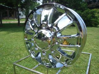 16 FORD CHEVY DODGE DUALLY CHROME WHEELS ION 166 SERIES FULL SET