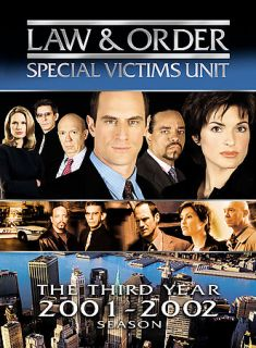 Law Order Special Victims Unit   The Third Year DVD, 2007, 5 Disc Set