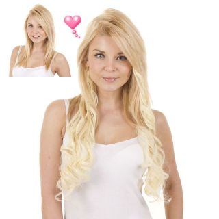 Clip in Full Head Curly Hair Extensions  18 Long  Heat Styleable