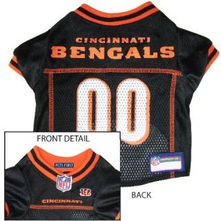 Cincinnati BENGALS BLACK MESH Pet Dog JERSEY with NFL PATCH S M L