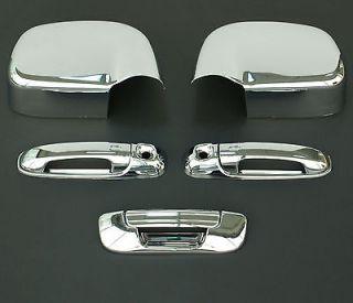 2002 2008 DODGE RAM 3D CHROME DOOR HANDLE MIRROR TAILGATE (Fits Dodge