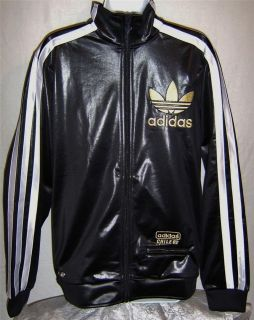 NEW ADIDAS CHILE 62 MEGA VARIO MENS TRACK TOP JACKET BLACK/WHITE/GO