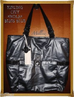 NWT*KIPLING*CITY COLLECTION*NOLA*TOTE*SHOULDER SHOPPER BAG*METALLIC