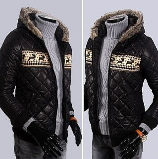 Mens Cool Slim Fit Hooded Winter Padded Coat Outwear Jacket M L XL