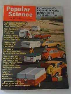 March 1972 POPULAR SCIENCE Camping Trailers plus JOHNSON Motor