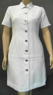 Clinique Skin Care Uniform Lab Coat Blazer Misses 12 White Solid