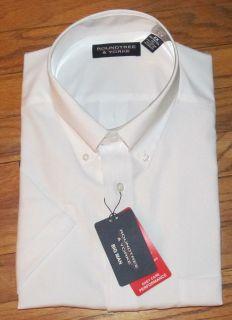 Roundtree Mens SS White Shirt XL 2X 2XT 3XT 4X 5X NWT