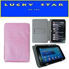 WitBlue Purple Leather Case Wallet For 7 Coby Kyros MID7024 MID7125