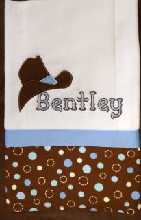 BURP CLOTH BABY /MONOGRAM/PERS​ONALIZED   COWBOY HAT