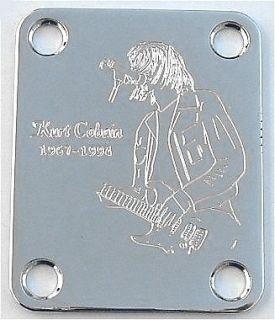 Parts NECK PLATE Custom Engraved Fit Fender   KURT COBAIN Nirvana