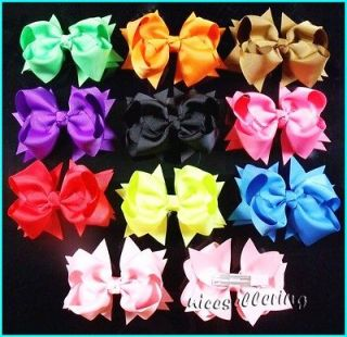 pcs Baby Infant Girl Costume Boutique Hair Bows Clips Xmas H1 ddedd 4