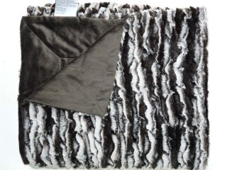 NEW RIALTO LIFE COMFORT FAUX FUR TO MICROMINK BROWN REVERSIBLE THROW